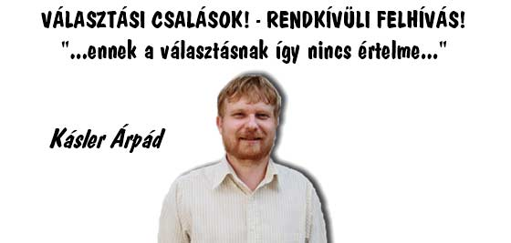 VÁLASZTÁSI CSALÁSOK! - RENDKÍVÜLI FELHÍVÁS!