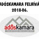 AZ ADÓSKAMARA FELHÍVÁSA – 2018-06.