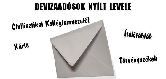 DEVIZAADÓSOK NYÍLT LEVELE.