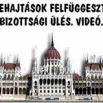 VÉGREHAJTÁSOK FELFÜGGESZTÉSE – BIZOTTSÁGI ÜLÉS. VIDEÓ.