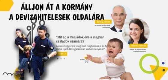 ÁLLJON ÁT A KORMÁNY A DEVIZAHITELESEK OLDALÁRA-2018 A CSALÁDOK ÉVE.
