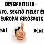 DEVIZAHITELEK-SORSDÖNTŐ, SEGÍTŐ ÍTÉLET ÉRKEZETT AZ EURÓPAI BÍRÓSÁGTÓL!
