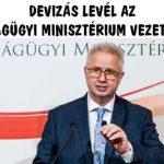 DEVIZÁS LEVÉL AZ IGAZSÁGÜGYI MINISZTÉRIUM VEZETÉSÉHEZ.