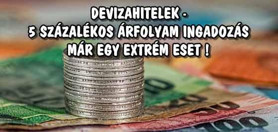 DEVIZAHITELEK-5 SZÁZALÉKOS ÁRFOLYAM INGADOZÁS MÁR EGY EXTRÉM ESET!