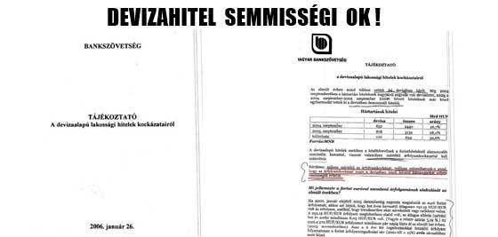 DEVIZAHITEL SEMMISSÉGI OK.