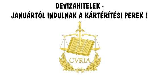 DEVIZAHITELEK - JANUÁRTÓL INDULNAK A KÁRTÉRÍTÉSI PEREK.