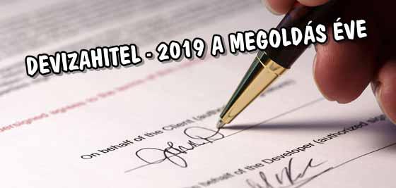 DEVIZAHITEL - 2019 A MEGOLDÁS ÉVE.