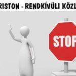 DR. KRISTON - RENDKÍVÜLI KÖZLEMÉNY.