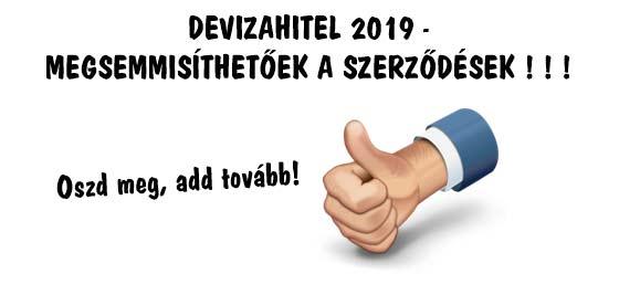 DEVIZAHITEL 2019 - MEGSEMMISÍTHETŐEK A SZERZŐDÉSEK!