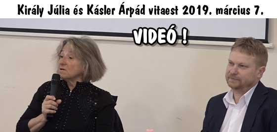 Király Júlia és Kásler Árpád vitaest 2019. március 7. VIDEÓ!