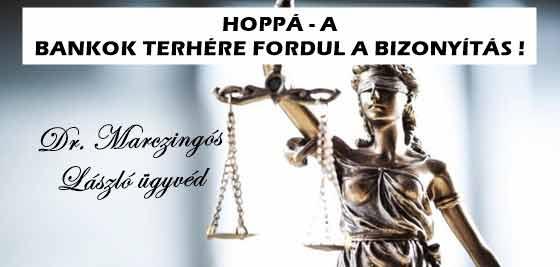HOPPÁ - A BANKOK TERHÉRE FORDUL A BIZONYÍTÁS!