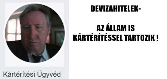 DEVIZAHITELEK-AZ ÁLLAM IS KÁRTÉRÍTÉSSEL TARTOZIK!