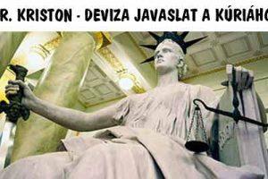 DR. KRISTON - DEVIZA JAVASLAT A KÚRIÁHOZ.