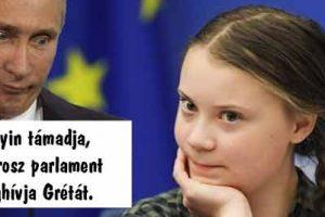 Putyin támadja, az Orosz parlament meghívja Grétát.