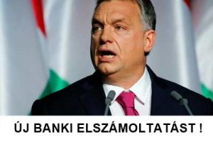 ÚJ BANKI ELSZÁMOLTATÁST!