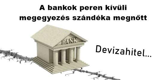 """Nemzeti Civil Kontroll """"devizahiteles"""" változások - A bankok peren kívüli megegyezés szándéka megnőtt"""