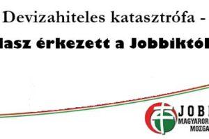 Devizahitel, Nemzeti Civil Kontroll, Devizahiteles katasztrófa-válasz érkezett a Jobbiktól is