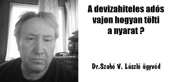Dr. Szabó V. László ügyvéd, Nemzeti Civil Kontroll, devizahitel, A devizahiteles adós vajon hogyan tölti a nyarat?