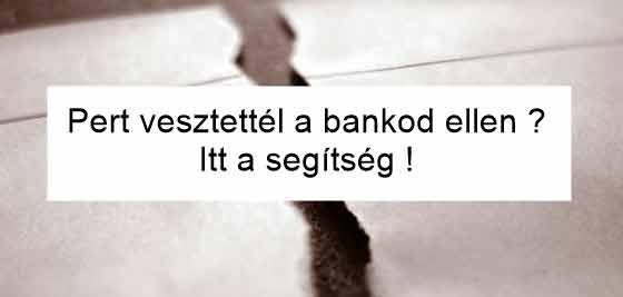 Dr. Szabó V. László ügyvéd, Nemzeti Civil Kontroll, Pert vesztettél a bankod ellen? Itt a segítség!