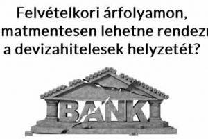 Dr. Szepesházi Péter, Nemzeti Civil Kontroll, devizahitel, Felvételkori árfolyamon, kamatmentesen lehetne rendezni a devizahitelesek helyzetét?