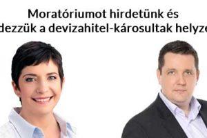 devizahitel, dr. Szakács László, Dobrev Klára, Nemzeti Civil Kontroll, Moratóriumot hirdetünk és rendezzük a devizahitel-károsultak helyzetét